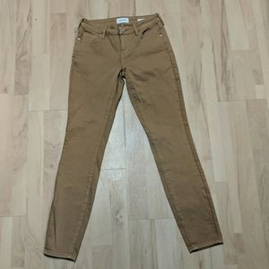 PacSun size 24 mid-rise skinny brown jeans